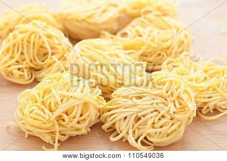 Pasta Typical Of Piedmont Called Tajarin