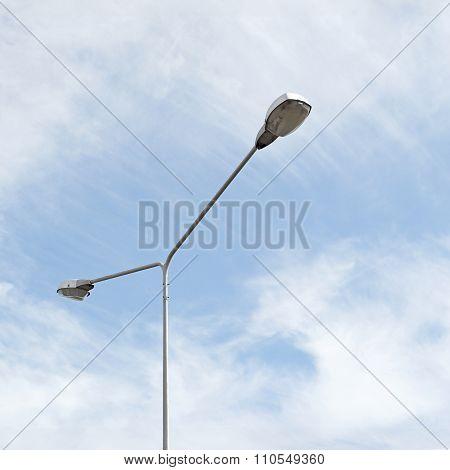 Streetlight With Beautiful Sky Background