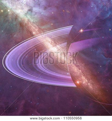 Distant stellar system.