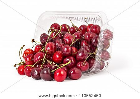 Fresh ripe organic cherries