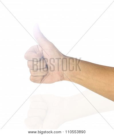Like right hand is agreement on white background.