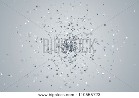 Abstract 3D Rendering of Chaotic Particles.