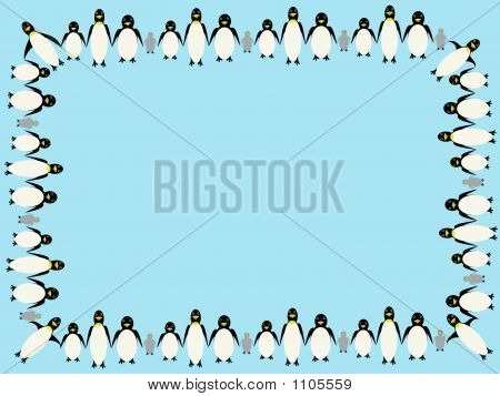Penguin Border Illustration