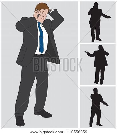 Businessman On Cell 2