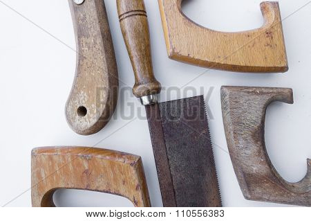 Saw / Old Handsaw Isolated - Vintage Tools