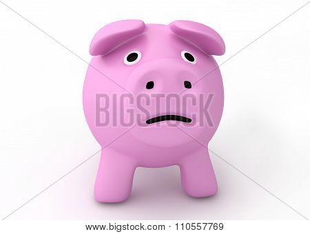 bankruptcy crisis concept - sad piggy bank