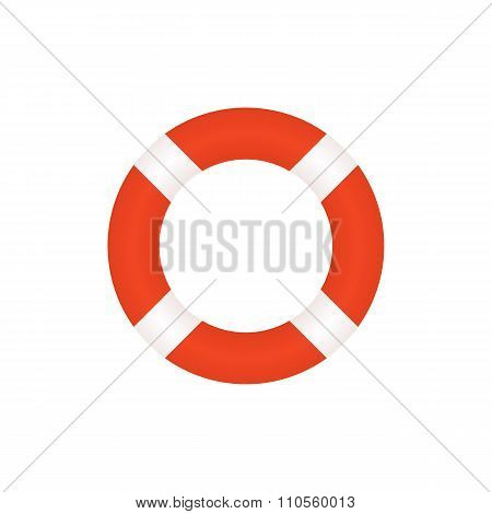 Lifebuoy icon, modern flat design style. Vector illustration, lifebelt symbol