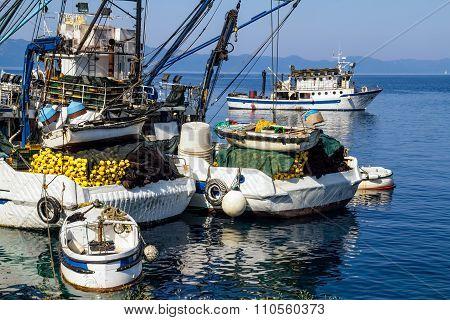Fishing boats detail