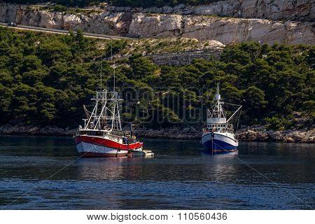 Two fishing boat