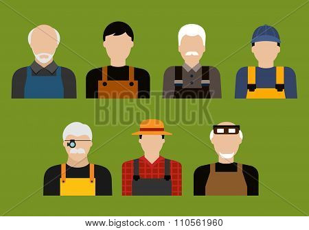 Farmer, mechanic, jeweler and tailor profession