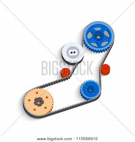 The Belt-driven Mechanism In 3D