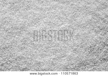 Crystal Texture Winter Snow Cover Of Gray Color