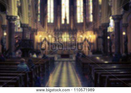 Blurry Church's interior background