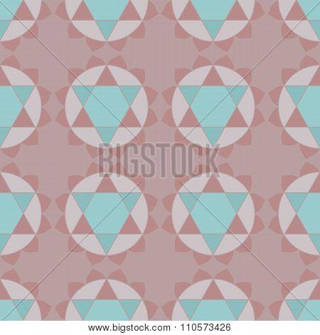 Ethnic spiritual geometric seamless pattern