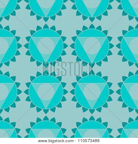 Ethnic sacred geometric seamless pattern