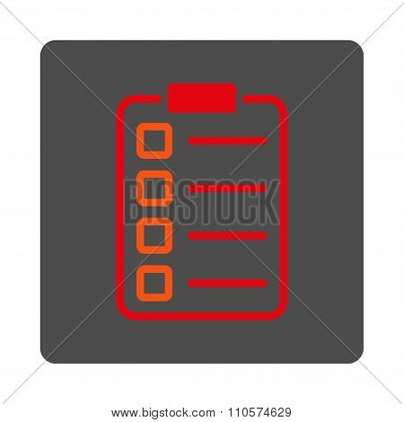 Exam Rounded Square Button