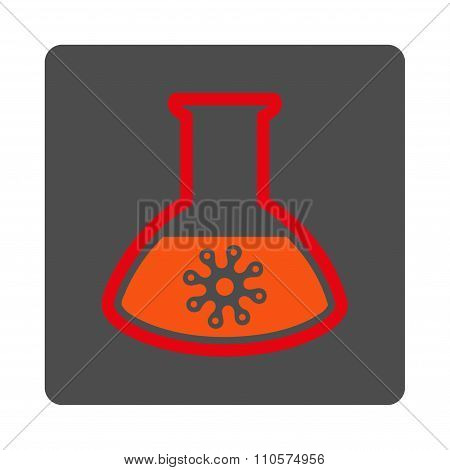 Microorganism Test Rounded Square Button