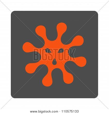 Microorganism Rounded Square Button