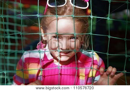 Girl and grid