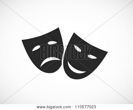 theater human mask sad and smile icon
