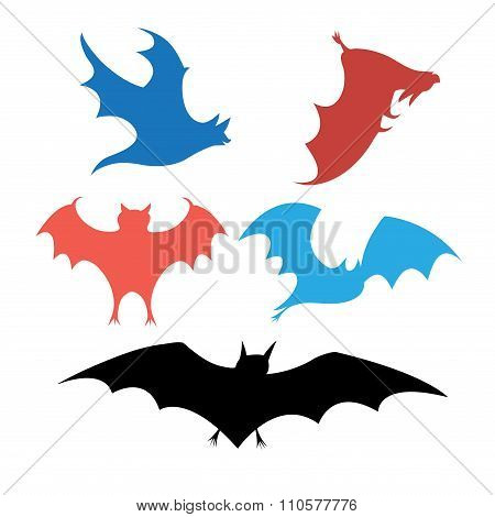 Graphic Set Of Bats