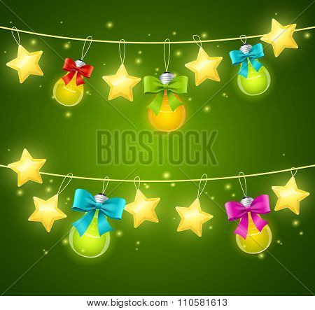 Xmass or Holiday Background. Vector