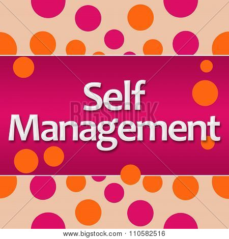 Self Management Pink Orange Dots