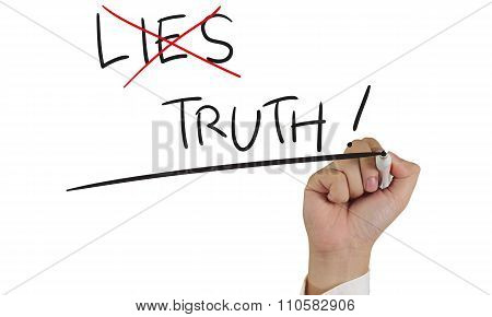 Lies And Truth, Concept Typography