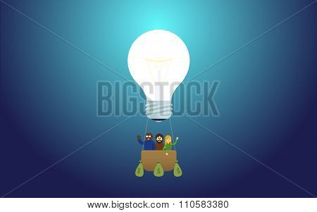 idea lamp - balloon or aerostat startup team