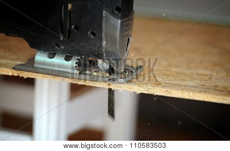 Close-up Black Fretsaw