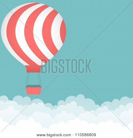 Background with hot air balloon