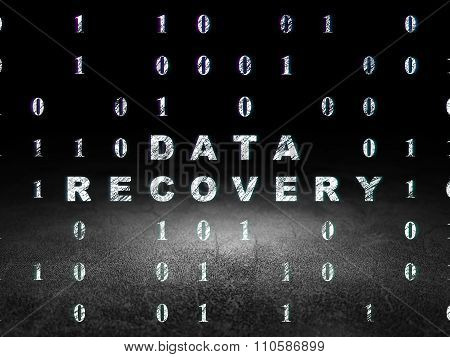 Information concept: Data Recovery in grunge dark room