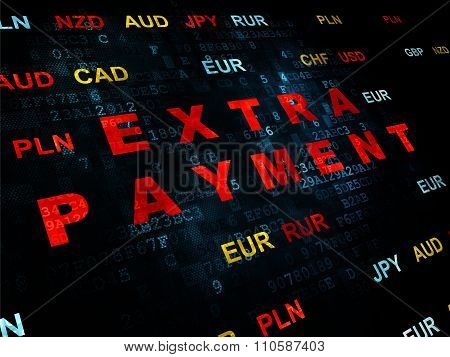 Banking concept: Extra Payment on Digital background