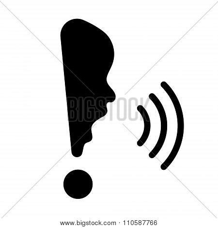 Exclamation Mark With Human Face