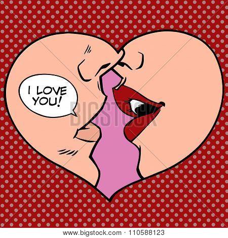 Heart kiss I love you