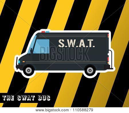 Swat police bus