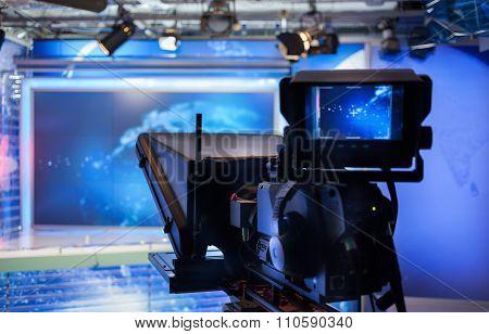 Video Camera - Recording Show In Tv Studio