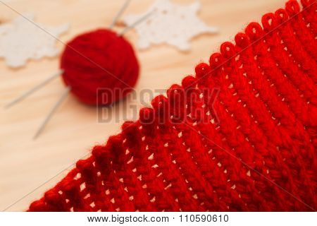 Knitwear, Yarn And Knitted Christmas Decorations