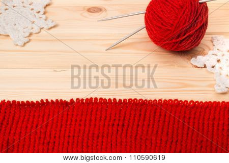 Woolen Yarn, Knitwear And Knitted Decoration Snowflakes