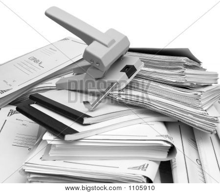 Book-Keeping Documents And Puncher