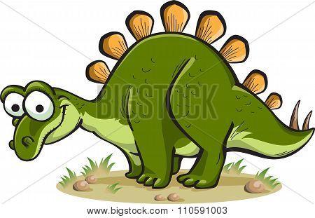 Stegosaurus Isolated On White