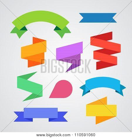 Paper labels vector set