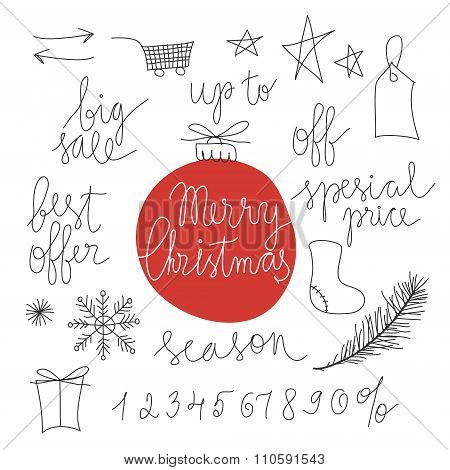 Christmas sale design elements