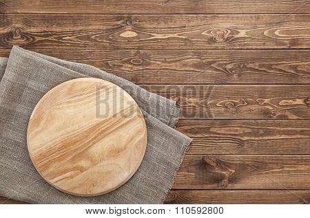 cutting board on a wooden table