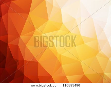 Orange Background Low Poly