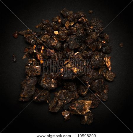 Top view of Organic Indian bdellium.