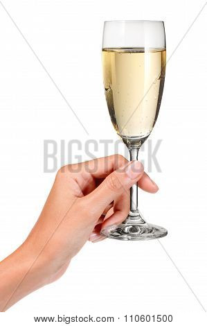 Hand Champagne Glass Toast