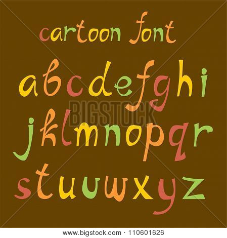 Cartoon english font