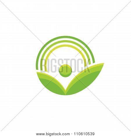 Nature - vector logo concept illustration. Ecology logo. Leafs logo sign. Bio logo.