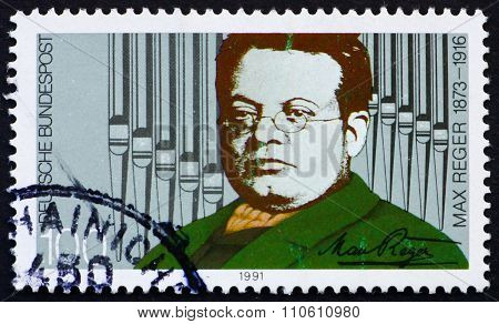 Postage Stamp Germany 1991 Max Reger